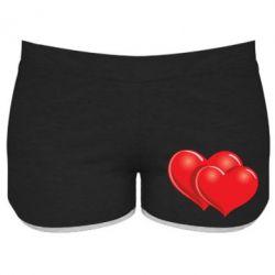 Женские шорты Два сердца - FatLine