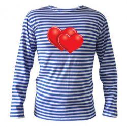 Тельняшка с длинным рукавом Два сердца - FatLine