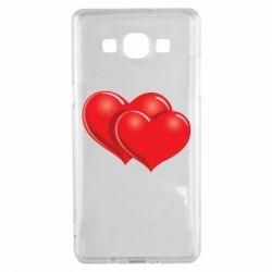 Чехол для Samsung A5 2015 Два сердца