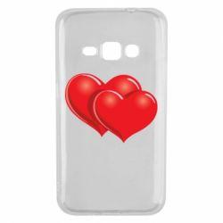 Чехол для Samsung J1 2016 Два сердца