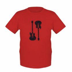 Детская футболка Две гитары - FatLine