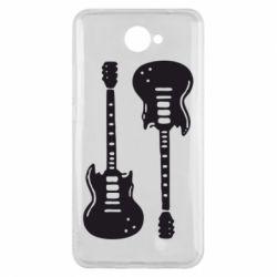 Чехол для Huawei Y7 2017 Две гитары - FatLine