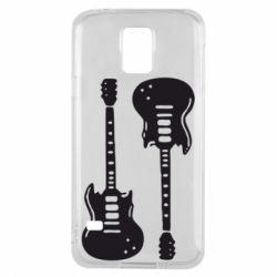 Чохол для Samsung S5 Дві гітари