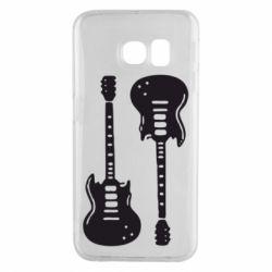 Чохол для Samsung S6 EDGE Дві гітари