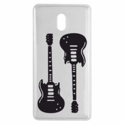 Чехол для Nokia 3 Две гитары - FatLine