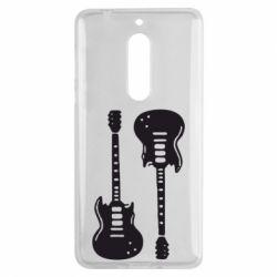 Чехол для Nokia 5 Две гитары - FatLine