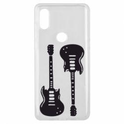 Чехол для Xiaomi Mi Mix 3 Две гитары - FatLine