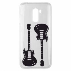 Чехол для Xiaomi Pocophone F1 Две гитары - FatLine
