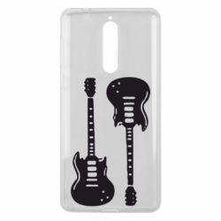 Чехол для Nokia 8 Две гитары - FatLine