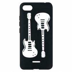 Чехол для Xiaomi Redmi 6A Две гитары - FatLine