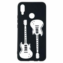 Чехол для Huawei P Smart Plus Две гитары - FatLine