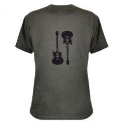 Камуфляжная футболка Две гитары - FatLine