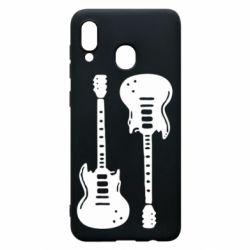 Чохол для Samsung A30 Дві гітари