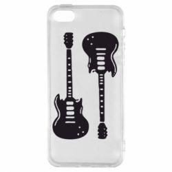 Чохол для iphone 5/5S/SE Дві гітари