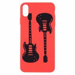 Чохол для iPhone X/Xs Дві гітари
