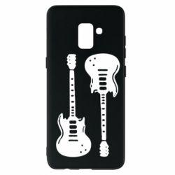 Чохол для Samsung A8+ 2018 Дві гітари