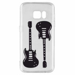 Чохол для Samsung S7 Дві гітари
