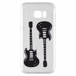 Чохол для Samsung S7 EDGE Дві гітари