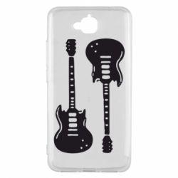 Чехол для Huawei Y6 Pro Две гитары - FatLine