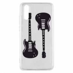 Чехол для Huawei P20 Две гитары - FatLine