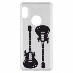 Чехол для Xiaomi Redmi Note 5 Две гитары - FatLine