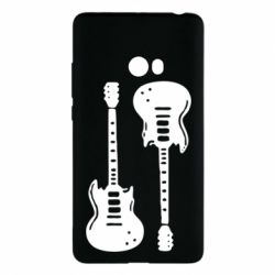 Чехол для Xiaomi Mi Note 2 Две гитары - FatLine