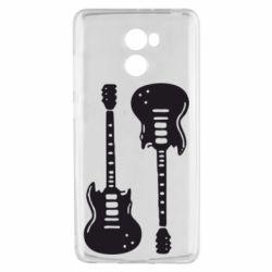 Чехол для Xiaomi Redmi 4 Две гитары - FatLine