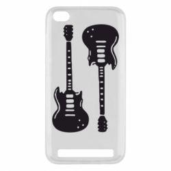 Чехол для Xiaomi Redmi 5a Две гитары - FatLine