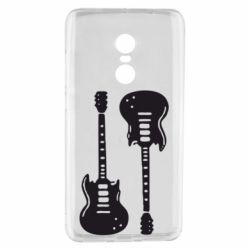 Чехол для Xiaomi Redmi Note 4 Две гитары - FatLine