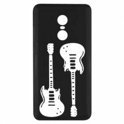 Чехол для Xiaomi Redmi Note 4x Две гитары - FatLine