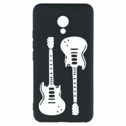 Чехол для Meizu M5 Две гитары - FatLine