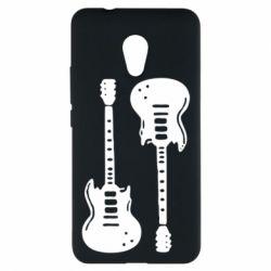 Чехол для Meizu M5s Две гитары - FatLine