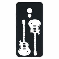 Чехол для Meizu Pro 6 Две гитары - FatLine