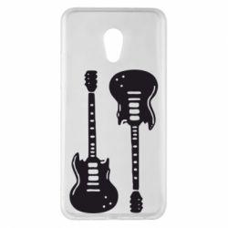 Чехол для Meizu Pro 6 Plus Две гитары - FatLine