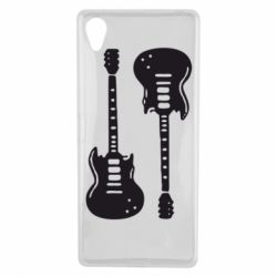 Чехол для Sony Xperia X Две гитары - FatLine