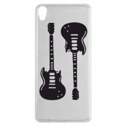 Чехол для Sony Xperia XA Две гитары - FatLine