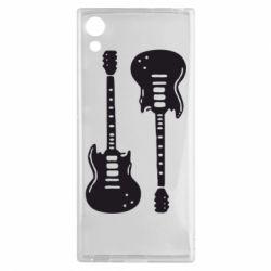 Чехол для Sony Xperia XA1 Две гитары - FatLine