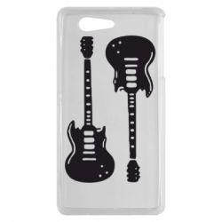 Чехол для Sony Xperia Z3 mini Две гитары - FatLine