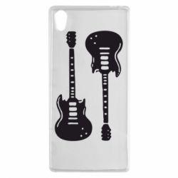 Чехол для Sony Xperia Z5 Две гитары - FatLine