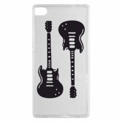 Чехол для Huawei P8 Две гитары - FatLine