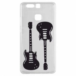 Чехол для Huawei P9 Две гитары - FatLine