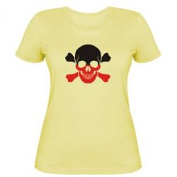 Женская футболка Двокольоровий череп - FatLine