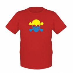 Детская футболка Двокольоровий череп - FatLine