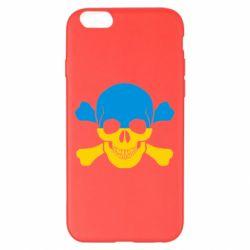 Чехол для iPhone 6 Plus/6S Plus Двокольоровий череп - FatLine