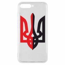 Чехол для Huawei Y6 2018 Двокольоровий герб України - FatLine