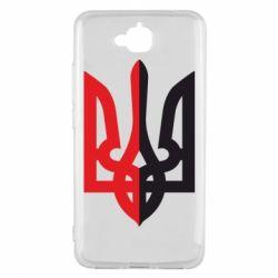 Чехол для Huawei Y6 Pro Двокольоровий герб України - FatLine
