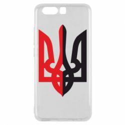 Чехол для Huawei P10 Двокольоровий герб України - FatLine