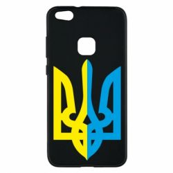 Чехол для Huawei P10 Lite Двокольоровий герб України - FatLine
