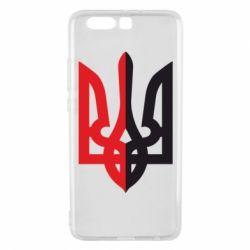 Чехол для Huawei P10 Plus Двокольоровий герб України - FatLine