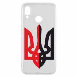 Чехол для Huawei P20 Lite Двокольоровий герб України - FatLine